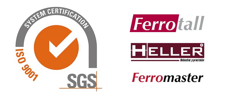 Ferrotall ISO 9001 certified