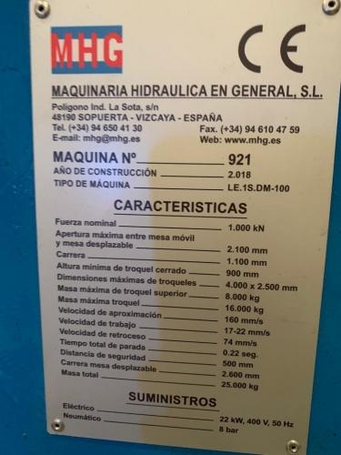 PRENSA HIDRAULICA MGH LC.1S.DM100-2000